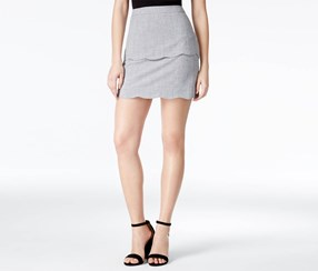 BCX Women's Byer Tulip Hem Pencil Skirt, Gray
