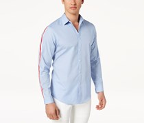Inc Men's Sleeve Striped Shirt, Blue Sunset