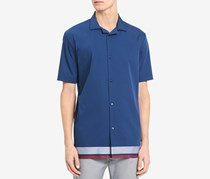 Men's Colorblocked Shirt, Blue Depths