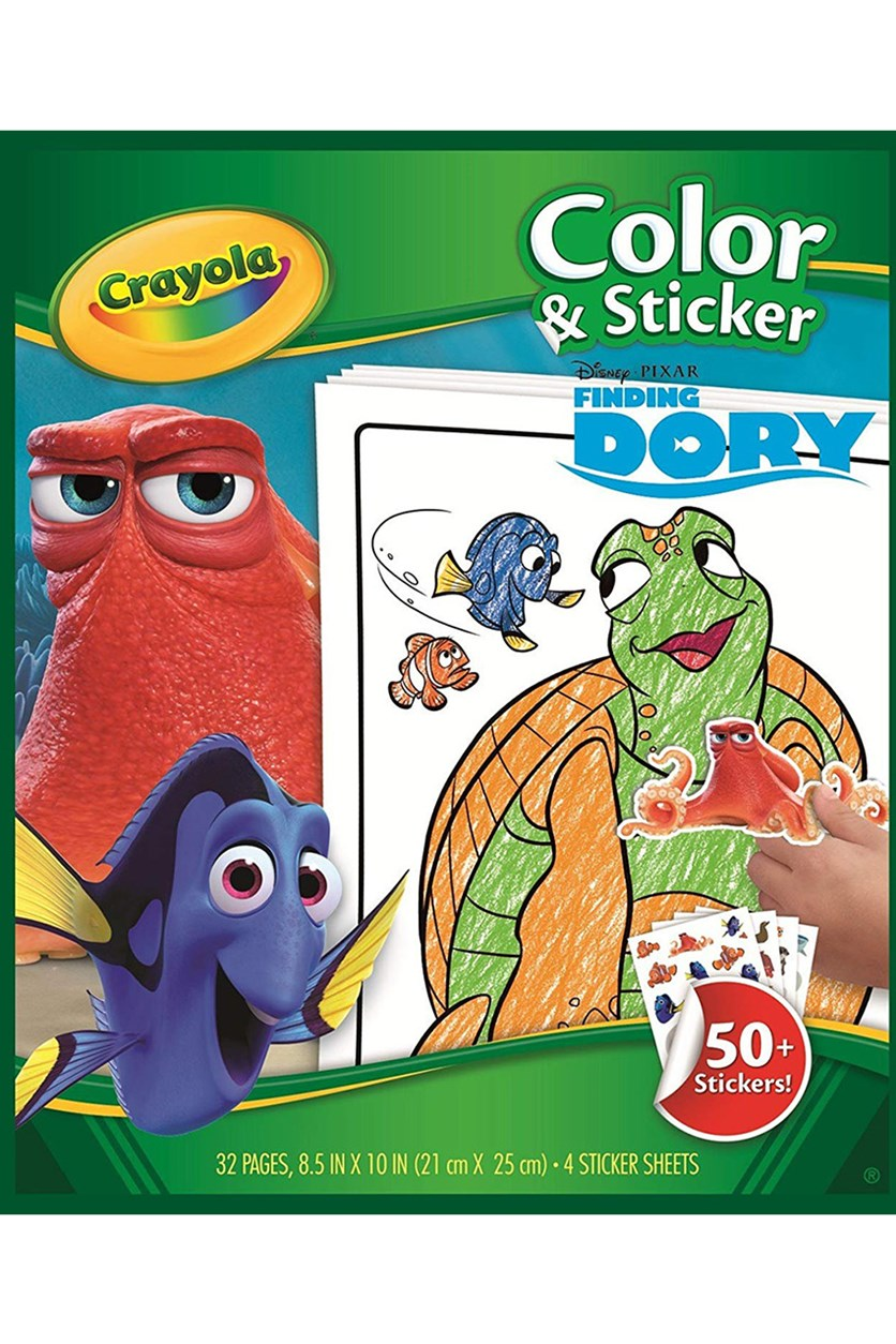 Finding Dory Color & Sticker Book, Green