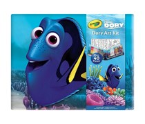 Crayola Disney Pixar Finding Dory Art Kit Over 40 Pieces, Blue
