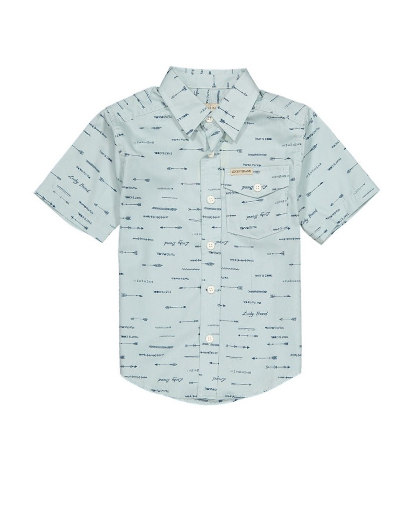 Printed Shirt, Pale Blue