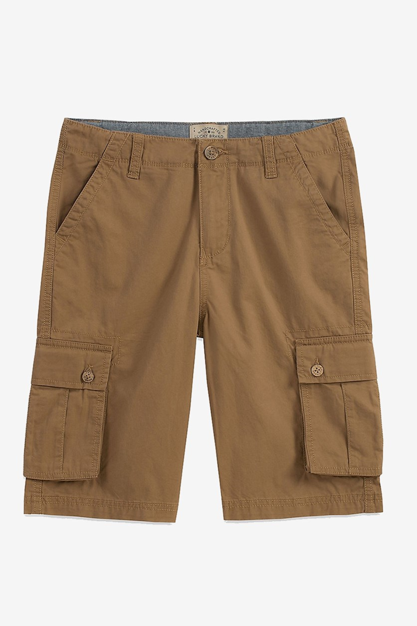 Toddlers Boys Cargo Pocket Short, Ermine Brown