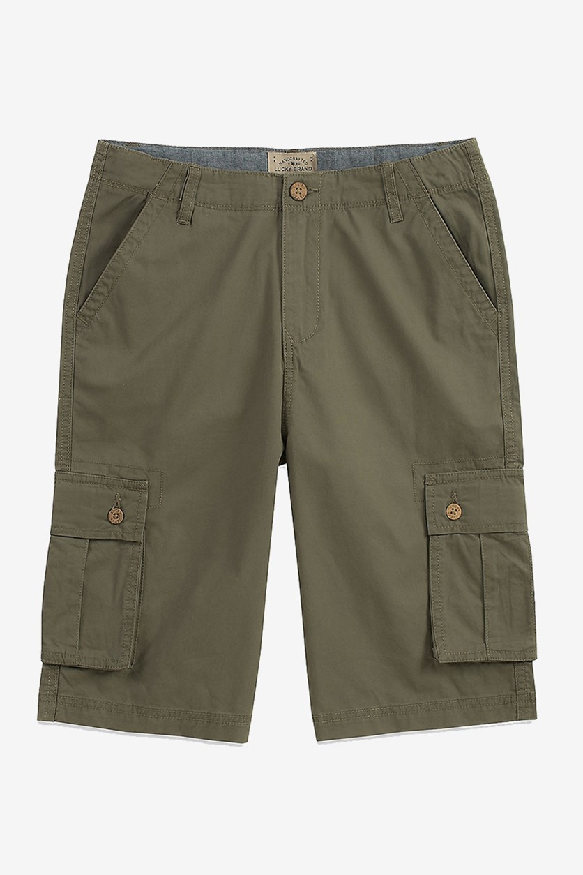 Toddlers Boys Cargo Pockets Short, Dusty Olive