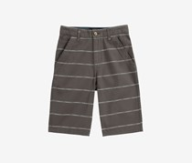 Toddlers Boys Mini Stripe Short, Medium Grey