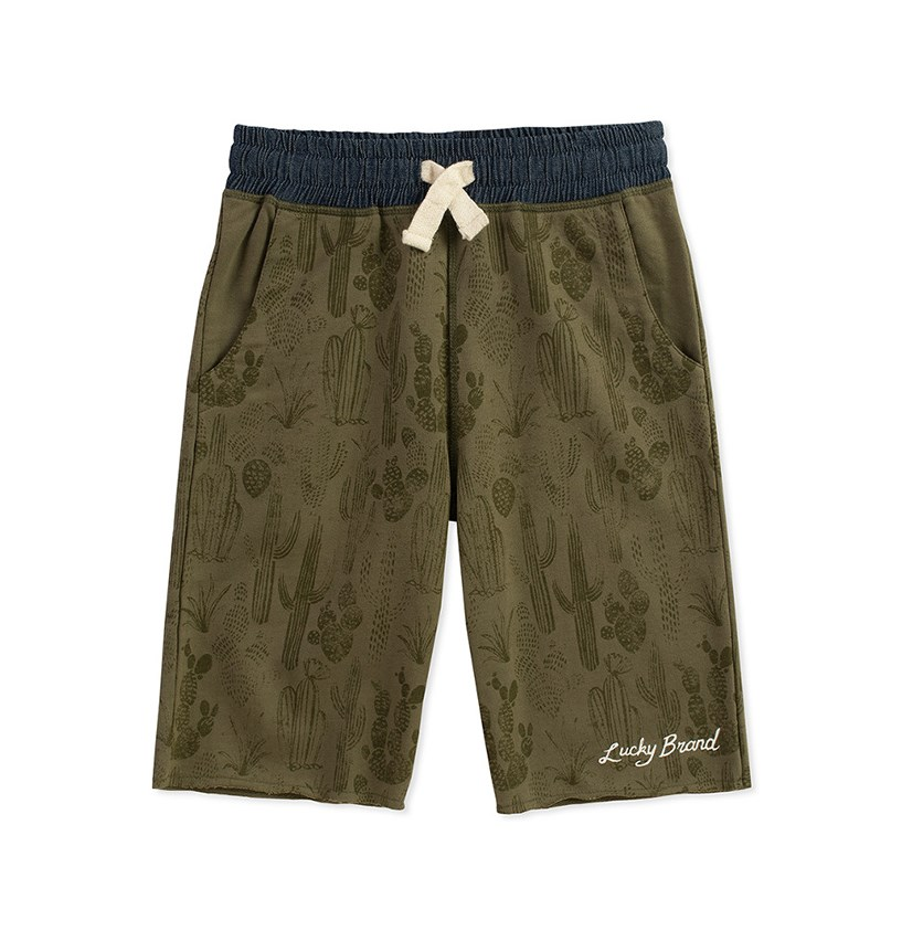 Boys Knit Short, Dusty Olive