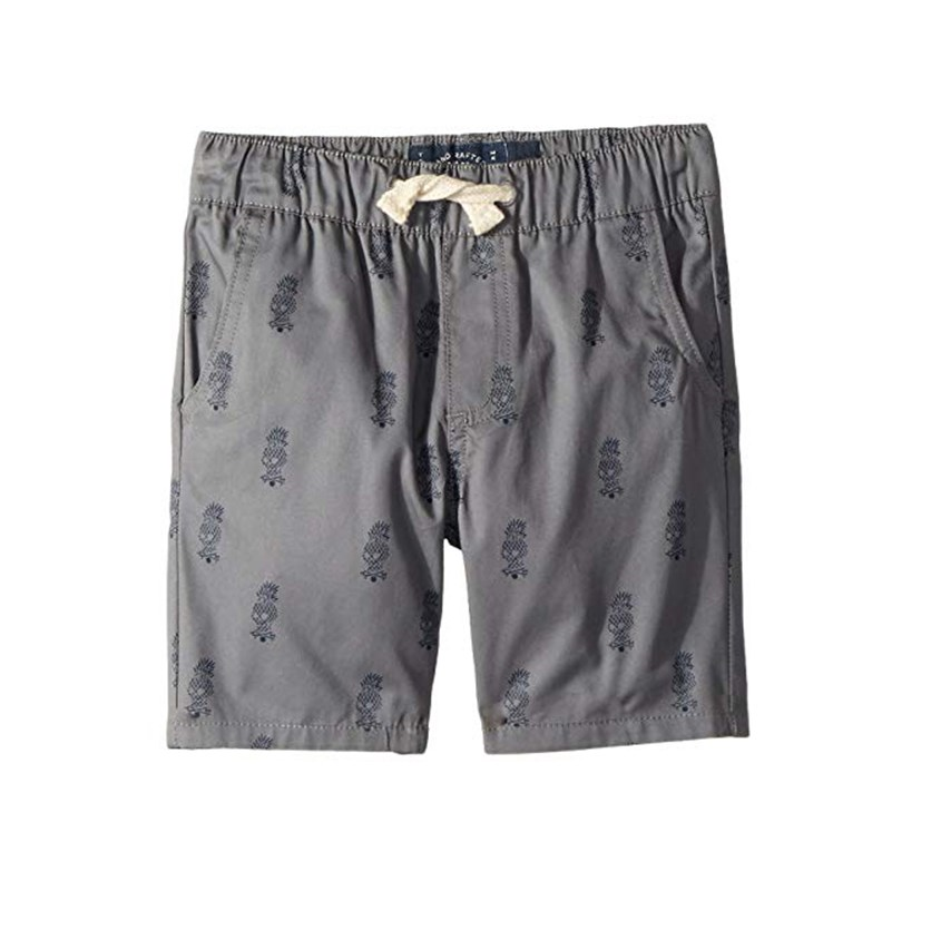 Kids Pull-On Shorts Printed, Grey