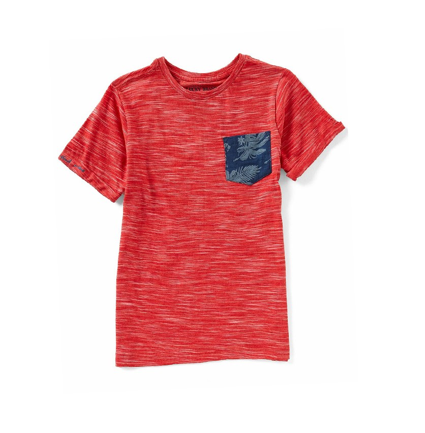 Pocket Tee, Cardinal Red