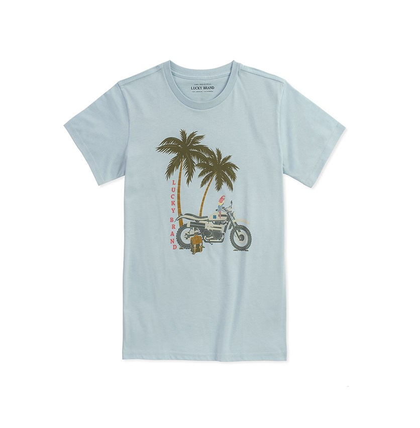 Skyway Heather  Motorcycle Tee, Skyway Heather