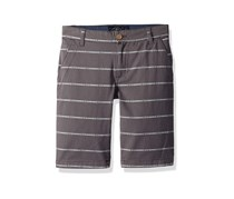 Lucky Brand Boys Flat Front Twill Shorts, Grey