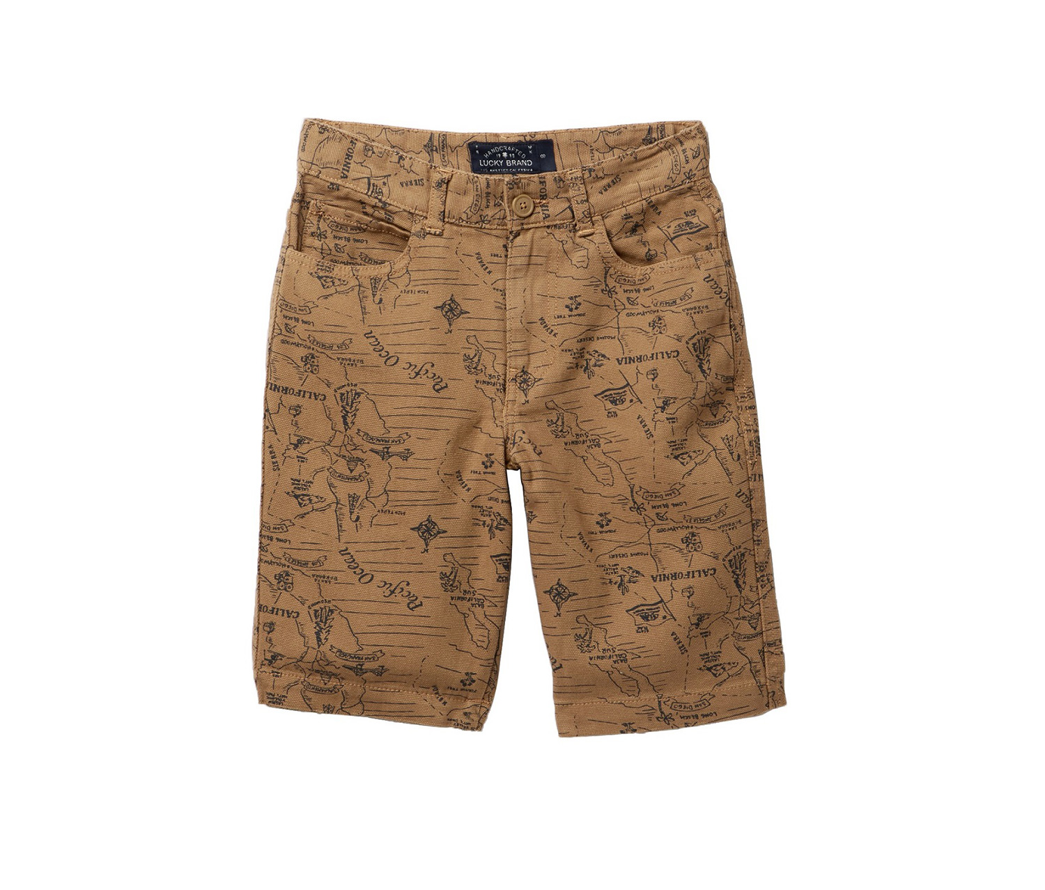 Big Boys Woven Printed Shorts, Slate Rose