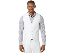 Perry Ellis Linen Vest, Bright White