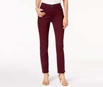 Style & Co Tummy-Control Slim-Leg Jeans, Berry Jam