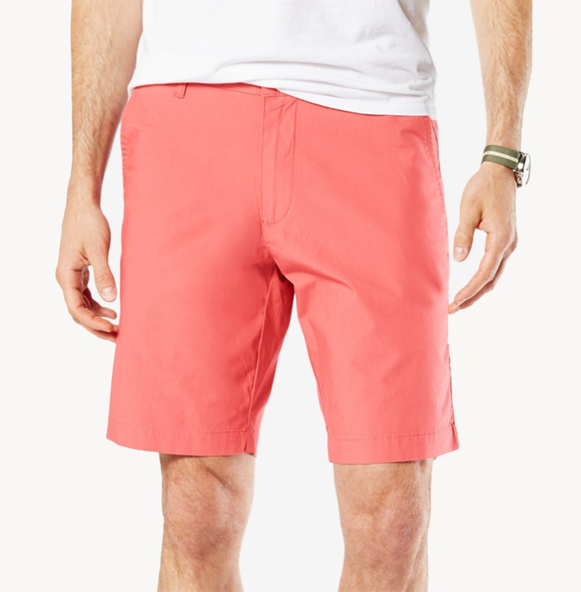 Men's Slim-Fit Patterned Short, Dusty Cedar
