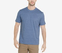 G.h. Bass & Co. Men's White Water Space-Dyed Performance T-Shirt, Indigo Sky Heather