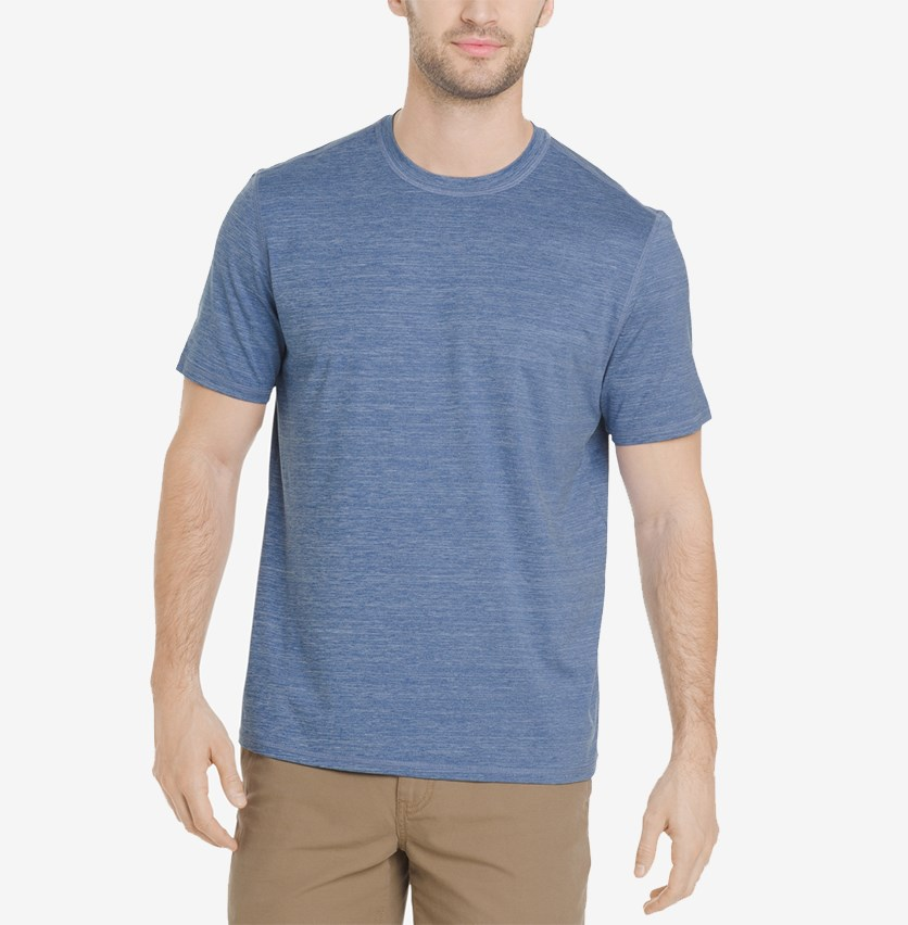 Men's White Water Space-Dyed Performance T-Shirt, Indigo Sky Heather