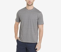 G.h. Bass & Co. Men's White Water Space-Dyed Performance T-Shirt, Silver Filigree Heather