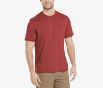 G.h. Bass & Co. Men's White Water Space-Dyed Performance T-Shirt, Aurora Red Heather