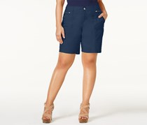 Style & Co Plus Size Relaxed Shorts, New Uniform Blue