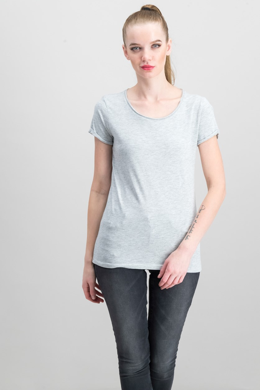 Women's Heathered Top, Grey