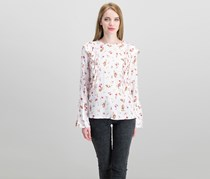 Cropp Women's Long Sleeve Floral Print Top, Pink Combo