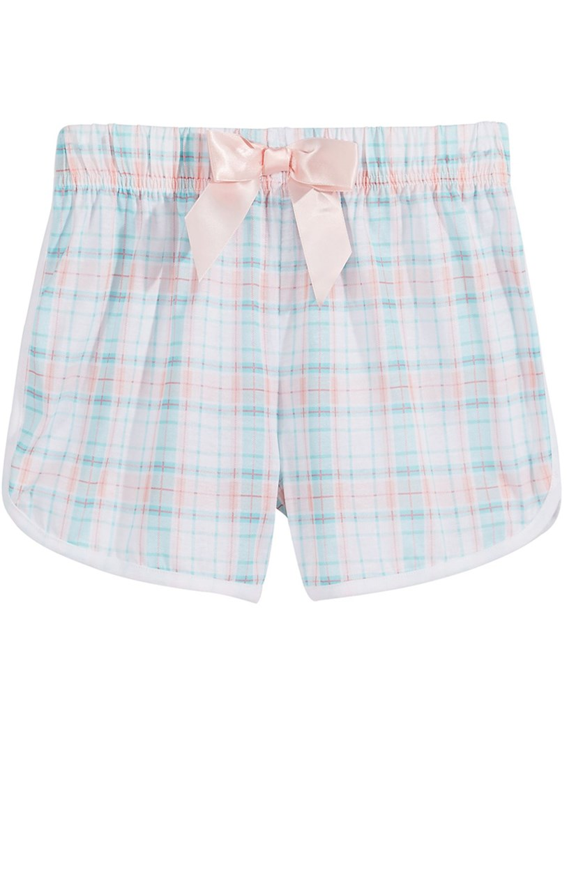 Plaid Pajama Shorts, Pink/Green