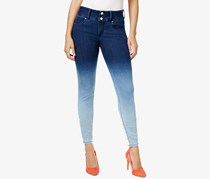 Thalia Sodi Women's Ombre Skinny Jeans, Light Wash