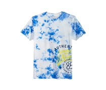 Graphic-Print Cotton T-Shirt, Ivory/Blue