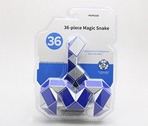 36 Piece Magic Snake, Blue/White