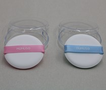 2 Powder Puff, Pink/Blue