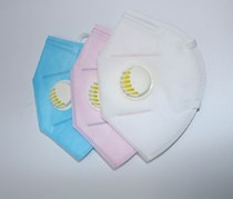 Breathing Valve Mask, Pink/Blue/White
