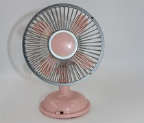 Mini Oscillating Desk Fan, Pink