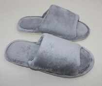 Men's Open Toed House Slippers, Gray