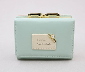 Pretty Pearl Small Wallet, Green