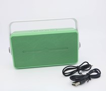 Retro Style Portable Wireless Speaker, Green