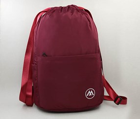 Drawstring Backpack, Wine Red