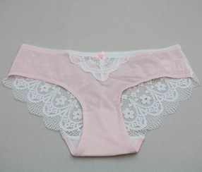Women's Comfortable Lace Brief, Pink