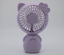 Cute Cat Portable Electric Fan, Purple