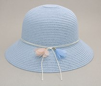 All-Match Wide Brim Hat, Blue