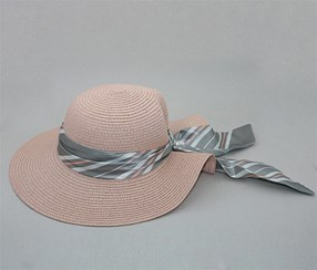 Elegant Lady Wide Brim Hat, Pink
