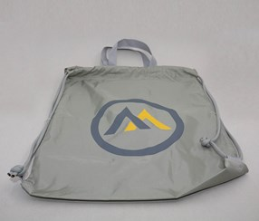 M Patterned Drawstring Sports Bag, Gray