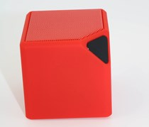 Oblique Angle Mini Cube Speaker, Red