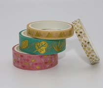 Plants Gilding Masking Tape Set, Pink/Green/Beige