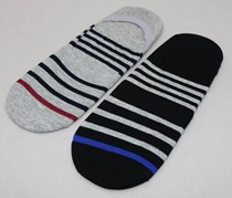 Men's Socks Stripe, Black/Grey