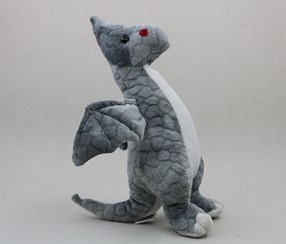 Plush Toy-Pterosaur/L,Grey
