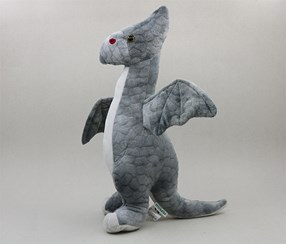 Plush Toy-Pterosaur,Grey/White