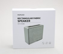Rectangular Fabric Speaker, Grey