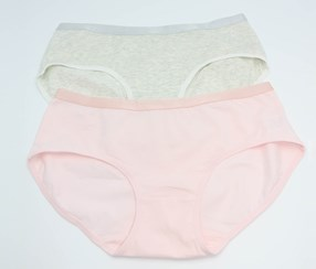 Women's 2 Panties, Gray/Pink