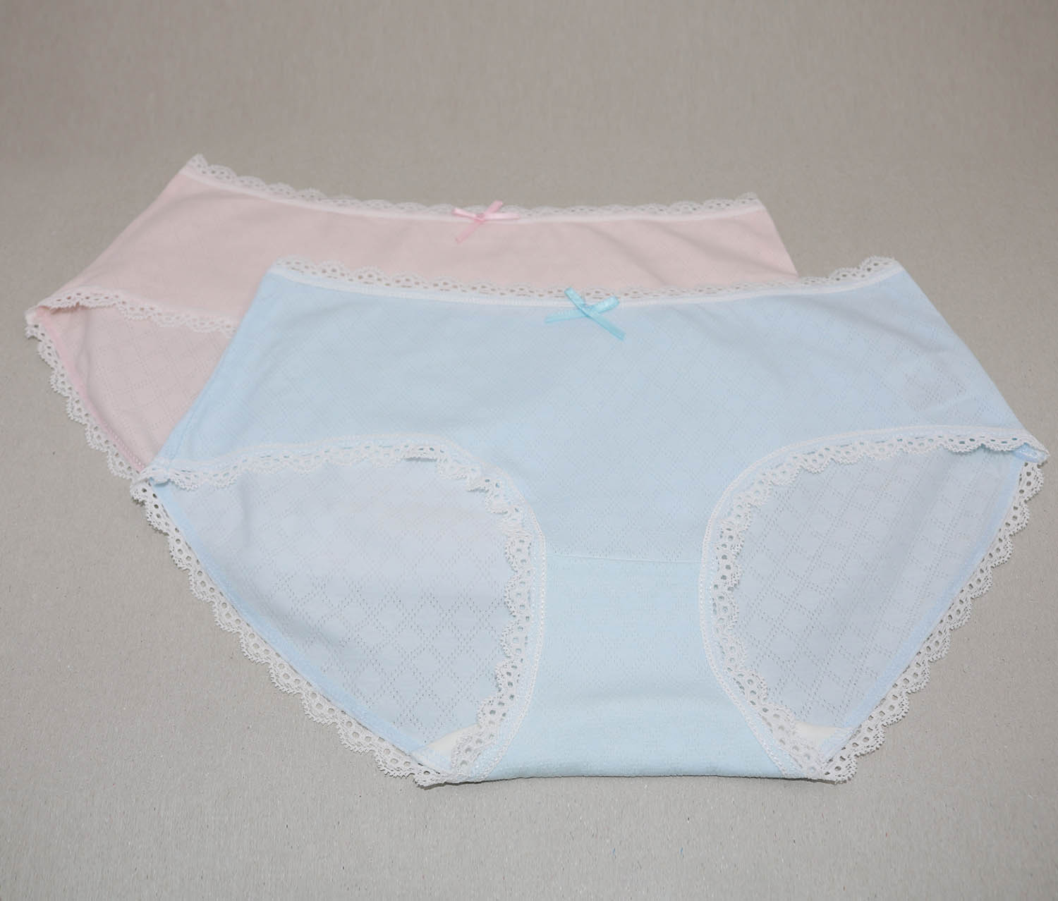 Women's Underwear 2 Pack, Light Blue/Light Pink