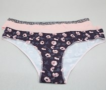 Women's 2 Panties, Pink/Brown